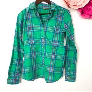 The North Face plaid Tee button down S